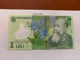 Romania 1 Leu Uncirc. Polymer Banknote 2008 #2 - Roemenië