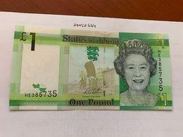 Jersey 1 Pound Uncirc. Banknote 2018 - Jersey