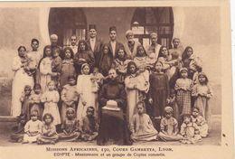 QG - EGIPT - Missionnaire Et Un Groupe De Coptes Convertis (MISIONS AFRICAINES) - Non Classés