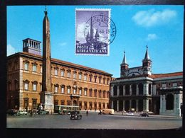 Vatican, Uncirculated And Stamped Postcard, Maximum Card, « Basilica Of St. John And Laterane Musea », 1964 - Vatikanstadt