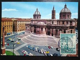 Vatican, Uncirculated And Stamped Postcard, Maximum Card, « St. Maria Maggiore Basilica », 1964 - Vatikanstadt