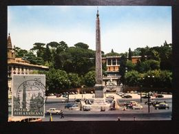 Vatican, Uncirculated And Stamped Postcard, Maximum Card, « People Square », 1964 - Vatikanstadt