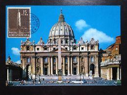 Vatican, Uncirculated And Stamped Postcard, Maximum Card, « St. Peter's Basilica », 1964 - Vatikanstadt