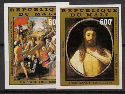 Mali - 1981 - PA N°Yv. 416 à 417 - Raphael / Rembrandt - Non Dentelé / Imperf. - Neuf Luxe ** / MNH / Postfrisch - Rembrandt