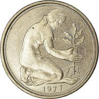 Monnaie, République Fédérale Allemande, 50 Pfennig, 1977, Hambourg, TTB - [ 7] 1949-… : RFA - Rep. Fed. Alemana