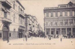 QG - EGIPT - Alexandria - Chérif Pacha Street And The Exchange - Alexandrie