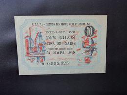 O.C.R.P.L. : Section Des Fontes , Fers Et Aciers : 10 KILOS     SUP à SUP+ * - Frankrijk