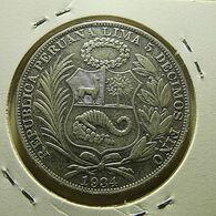 Peru 1 Sol 1934 Silver - Pérou