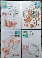 Taiwan R.O.CHINA -Maximum Card.-COVID-19 Prevention Postage Stamps 2020 (8 Pcs.) - Maximum Cards