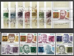 Norway   2001   Sc#1308a-15a  Nobel Prize Pairs Set & Souv Sheet MNH   2016 Scott Value $26.50 - Norwegen