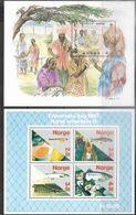 Norway   1987   Sc#908 Red Cross & #B70  Fish Souv Sheets  MNH  2016 Scott Value $16.50 - Norwegen