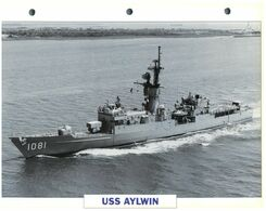 (25 X 19 Cm) B - Photo And Info Sheet On Warship - USS Aylwin (1081) - Boats