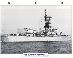 (25 X 19 Cm) B - Photo And Info Sheet On Warship - USS E. McDonnel (1043) - Boats