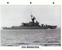 (25 X 19 Cm) B - Photo And Info Sheet On Warship - USS Bronstein (1037) - Boats