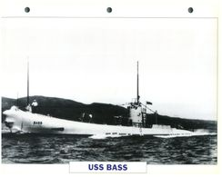 (25 X 19 Cm) B - Photo And Info Sheet On Warship - USS Bass - Boats