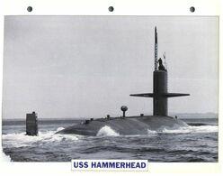 (25 X 19 Cm) B - Photo And Info Sheet On Warship - Submarine USS Hammerhead - Boats