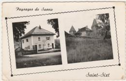 Q7-74) SAINT SIXT (HAUTE SAVOIE) LA MAIRIE ET LE CHATEAU - (CORRESPONDANCE AU DOS DU 19/12/1958 - 2 SCANS) - Autres Communes