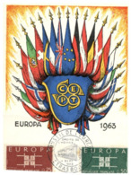 (G 13) EUROPA CEPT - Maxicard - France - Conseil De L'Europe (Starsbourg) 1963 - 1963