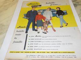 ANCIENNE PUBLICITE JIMIE HABILLE TOUTE LA FAMILLE  TERGAL  1958 - Vintage Clothes & Linen
