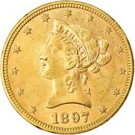 Monnaie, États-Unis, Coronet Head, $10, Eagle, 1897, U.S. Mint, Philadelphie - L. Gold