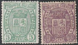 1875. * Edifil: 154/55. ESCUDO DE ESPAÑA I. G. - Nuevos