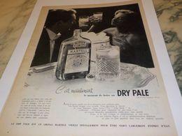 ANCIENNE PUBLICITE COGNAC MARTELL LE DRY PALE 1957 - Alcohols