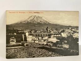 "Peru Postcard, Arequipa - Panorama Y , El 'Misti"", Mollendo - Perù"