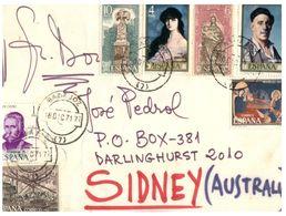 (G 13) Spain To Australia  Cover - 1971 - 1931-Heute: 2. Rep. - ... Juan Carlos I