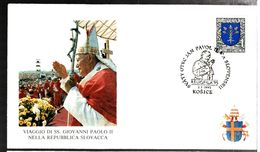 35188 - VOYAGE DU PAPE  JEAN  PAUL II - Cartas