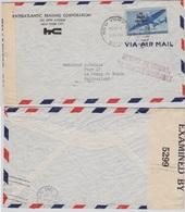 USA - Lupo-Zensurbrief New York 1942 Retour !! - RETURN TO SENDER - NO SERVICE - Ganzsachen