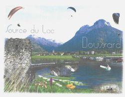 DOUSSARD HAUTE SAVOIE SOURCE DU LAC ( PARAPENTE, FLEURS, PONT, BATEAUX ) PAP ENTIER POSTAL FLAMME FAVERGES 2008, A VOIR - Vacances & Tourisme