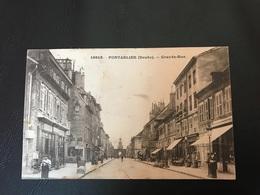 16819 - PONTARLIER Grande Rue - 1926 Timbrée - Pontarlier