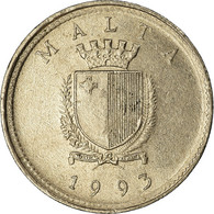 Monnaie, Malte, 2 Cents, 1993, TTB, Copper-nickel, KM:94 - Malta