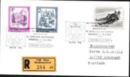 Austria Registered Cover 1976 Innsbruck Olympic Games - Posted Wien Sonderpostamt 1976 75. Session IOC (G114-40) - Winter 1976: Innsbruck