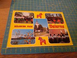 155406 Halsning Fran Dalarna  Cartolina Usata Per Concorso - Bolzano (Bozen)