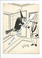 SUPERBE DESSIN DE PRESSE  ORIGINAL ANNÉES 50 60 ACHAT IMMÉDIAT VOIR SCAN / VICQ SORCIERE MERE - Dessins
