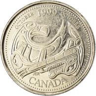 Monnaie, Canada, Elizabeth II, 25 Cents, 1999, Royal Canadian Mint, Ottawa, SUP - Canada