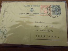 Carte Postale N° 144 III (90C + 30C TRILINGUE) Oblitérée MALMEDY En 1956. Superbe! - Interi Postali
