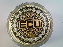 Medaille ECU Bundesrepublik Deutschland, Bicolor, Silber 999,9 - Numismatik