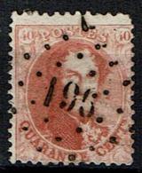 16A  Obl  LP  196  Jemappes  + 10 - 1863-1864 Medallones (13/16)