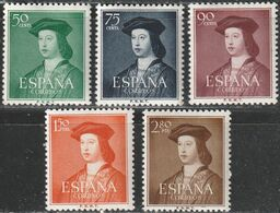 1952. ** Edifil: 1106/10. FERNANDO CATOLICO - 1931-Heute: 2. Rep. - ... Juan Carlos I