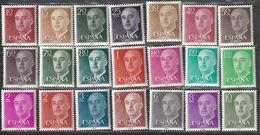 1955. ** Edifil: 1143/63. G. FRANCO - 1931-Heute: 2. Rep. - ... Juan Carlos I