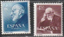 1952. ** Edifil: 1119/20. FERRAN Y RAMON Y CAJAL - 1931-Heute: 2. Rep. - ... Juan Carlos I