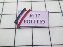 1520 Pin's Pins / Beau Et Rare / THEME : INFORMATIQUE / MINITEL 3717 POLITIQ' - Informatique