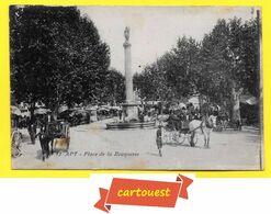 CPA APT 84  ♥️♥️☺♦♦   Place De La Bouquerie  ( Attelage )  ֎ 1916 - Apt