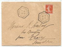 N° 138 LETTRE C. HEX PORT AVIATION 16.6.1910 SEINE ET OISE - Poststempel (Briefe)