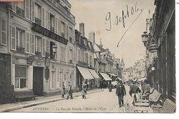 89 - AUXERRE - La Rue Du Temple, L'Hôtel De L'Epée  (Animée, Commerces - 1906) - Auxerre