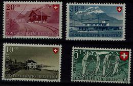 SWITZERLAND 1947 PRO  PATRIA BRUFE MI No 480-3 VF !! - Pro Patria