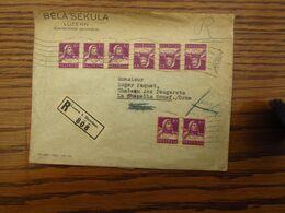 Suisse: N° 138 (8X Dont Une TÊTE-BÊCHE) Sur Lettre Recommandée De Luzern Pour La France En 1933. Très Beau! - Switzerland