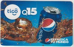 GUATEMALA -  Pepsi Refresca Tu Mundo Can ,Tigo GSM Refill, Used - Guatemala